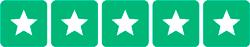 5 stjerner på trustpilot